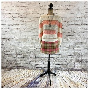 Cute Pink Plaid Vintage Mini Skirt